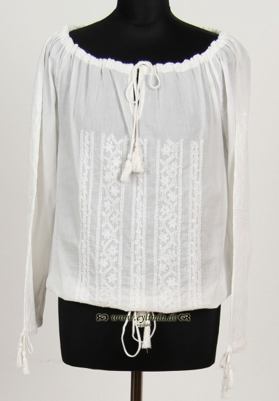 Tunika, Scallop Cotton, white