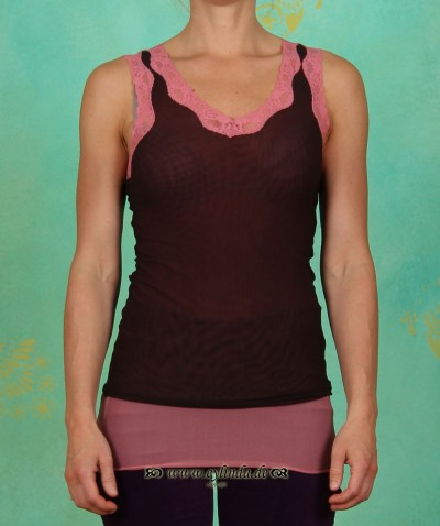 Top, IL-0512, chocolate-rouge
