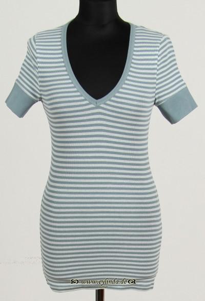 T-Shirt, Basic-2X2 Rib Light-Striped-03, ariel