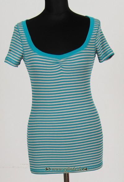 T-Shirt, Basic-2X2 Rib Light-Striped-01, breath