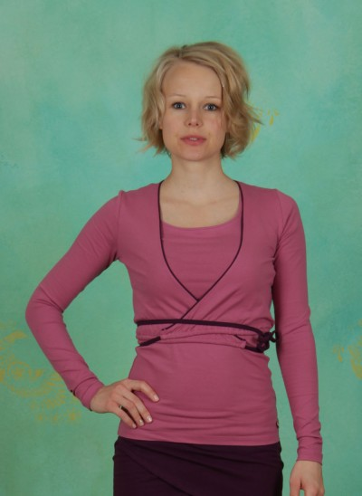 Wraparound, Bolero Jacket, red-violet