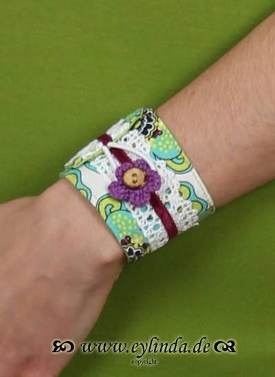 Armband, LillyAr, gruen-weiß