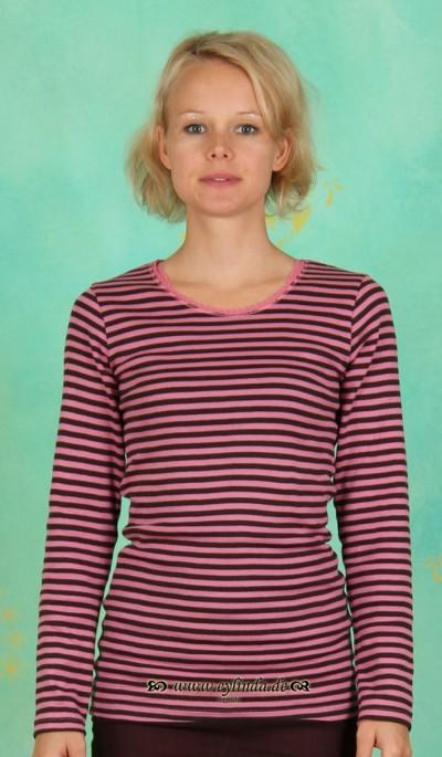 T-Shirt, NALB-0799, chocolate-rouge