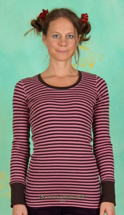 T-Shirt, NALB-0802, chocolate-rouge