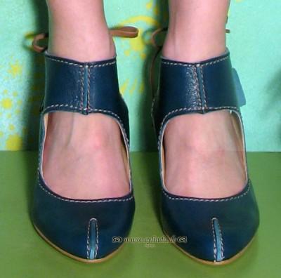 Schuhe, Ivy, mousse/blue