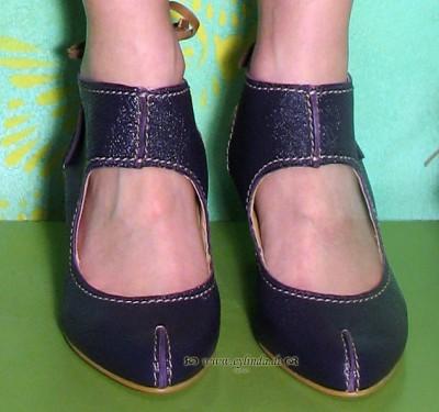 Schuhe, Ivy, astrakan/purple