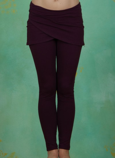 Hose, Warp Skirt Pant, potent-purple