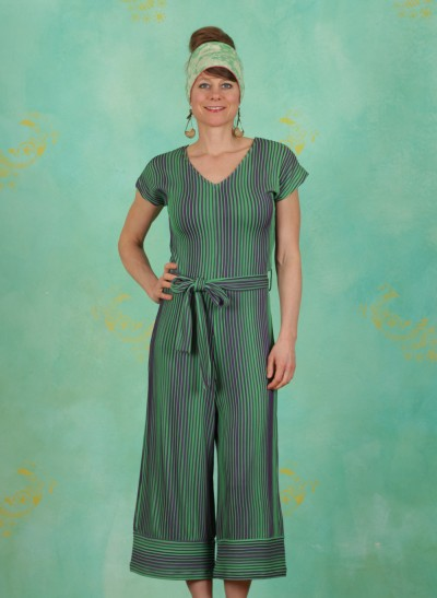 Jumpsuit, Paros Stripe, green
