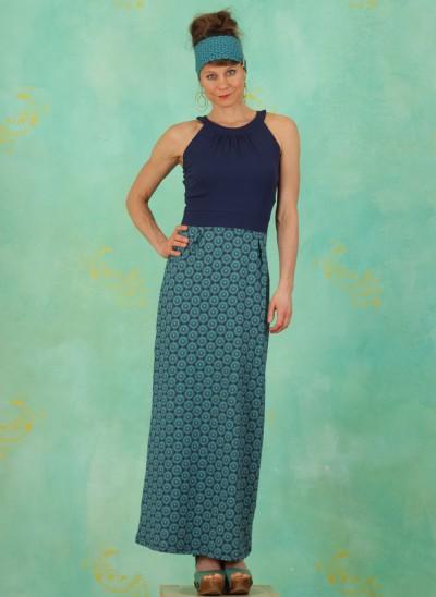 Kleid, S21E02, blue-multi
