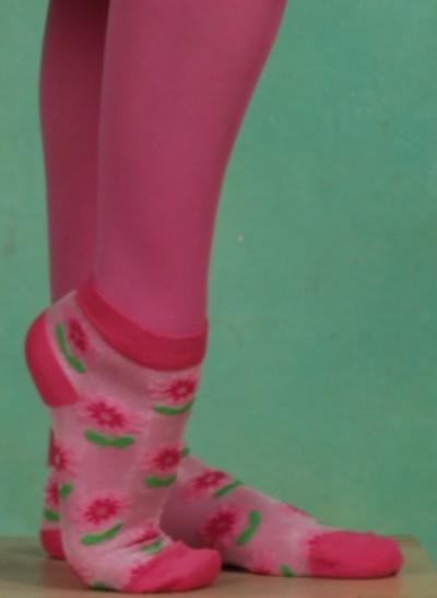 Socken, Peonies, multi