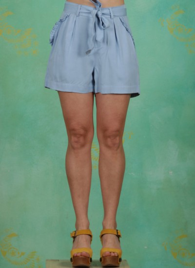 Shorts, Garden Party, sky-blue
