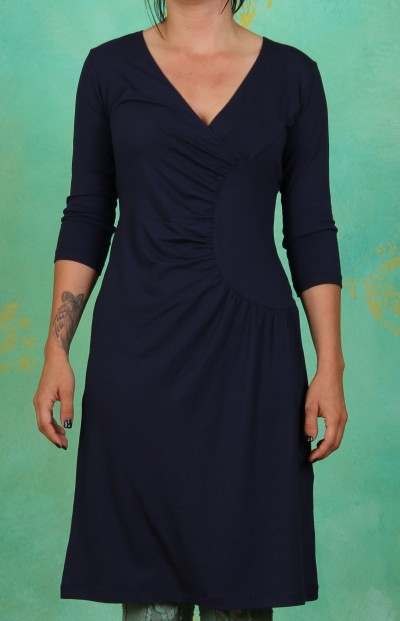 Kleid, Side-Scoop, navy