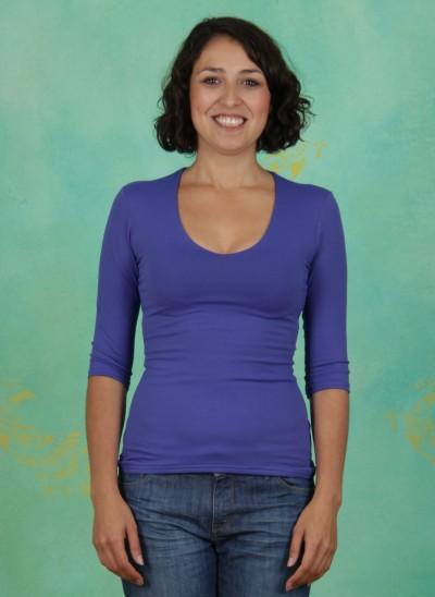 Shirt, Sylvia, blau-lila