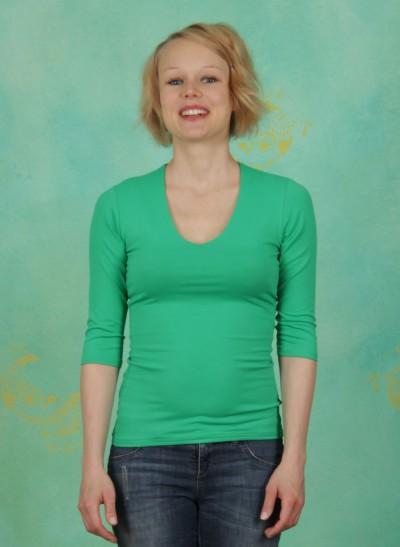 Shirt, Sylvia, gras-grün