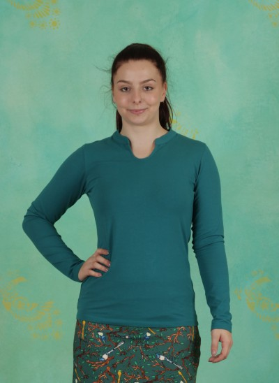 Shirt, Tarsia, blue
