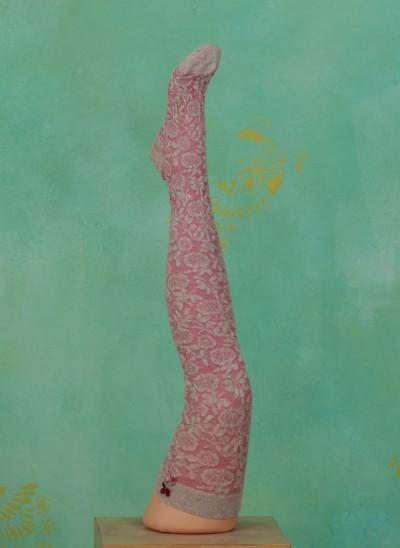 Overknees, Tudor, pink
