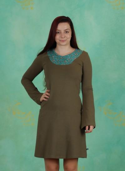 Kleid, Sasthi, olive