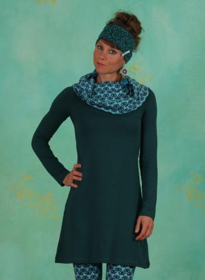Kleid, W20E33, blue-green