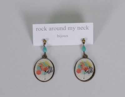 Ohrringe, Earring Stick with Pendant 2cm and pearls, ea1175g