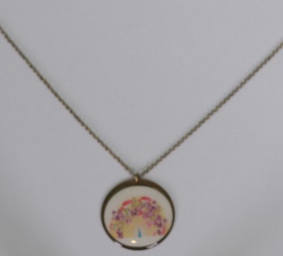 Kette, Chain with pendant 4,5cm, ch1700g