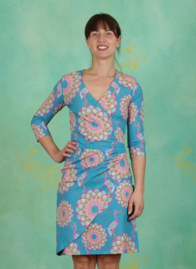 Kleid, BA ¾, mandala-turquoise