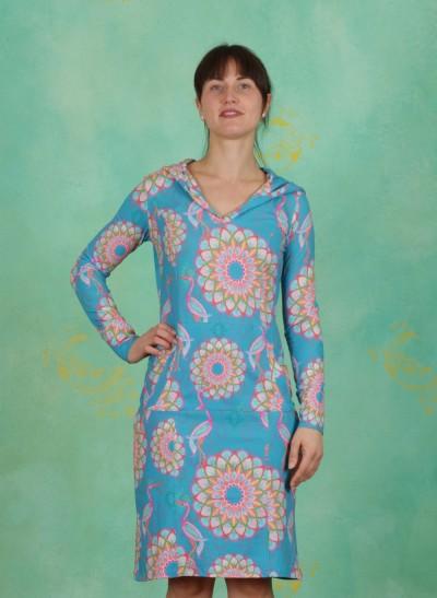 Kleid, Santiago, mandala-turquoise