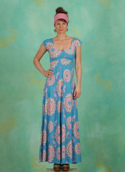 Kleid, Sitges, mandala-turquoise