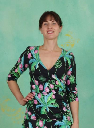 Shirt, Aruba ¾, dandelion-black
