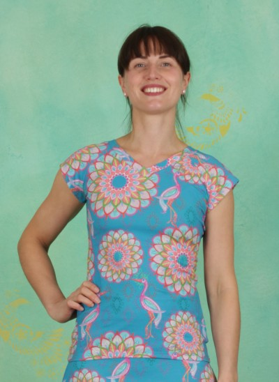 Shirt, Laval, mandala-turquoise