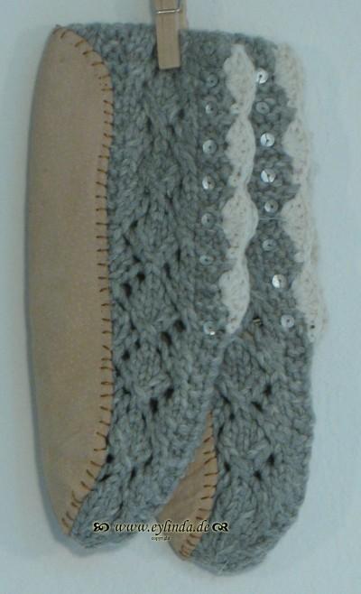 Schuhe, Casa Slipper, grey-melange