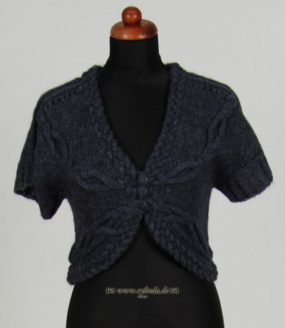 Cardigan, Short Sleeve, naval