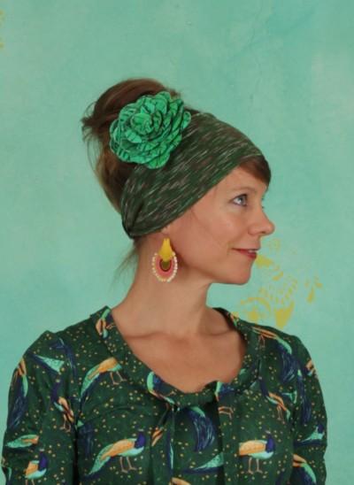 Haarspange, Latebloomer Floral Clip, multi-green