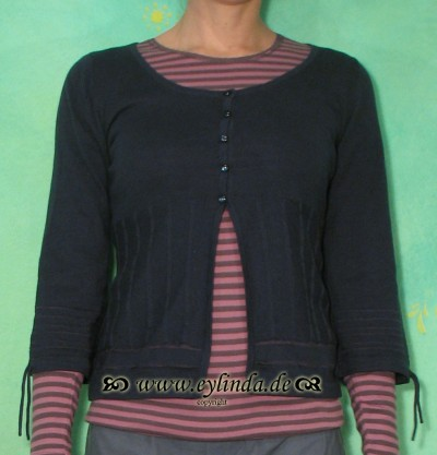 Cardigan, BL-0649, steel blue