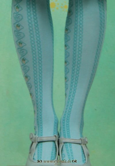 Strumpfhose, BLB-0800, old blue