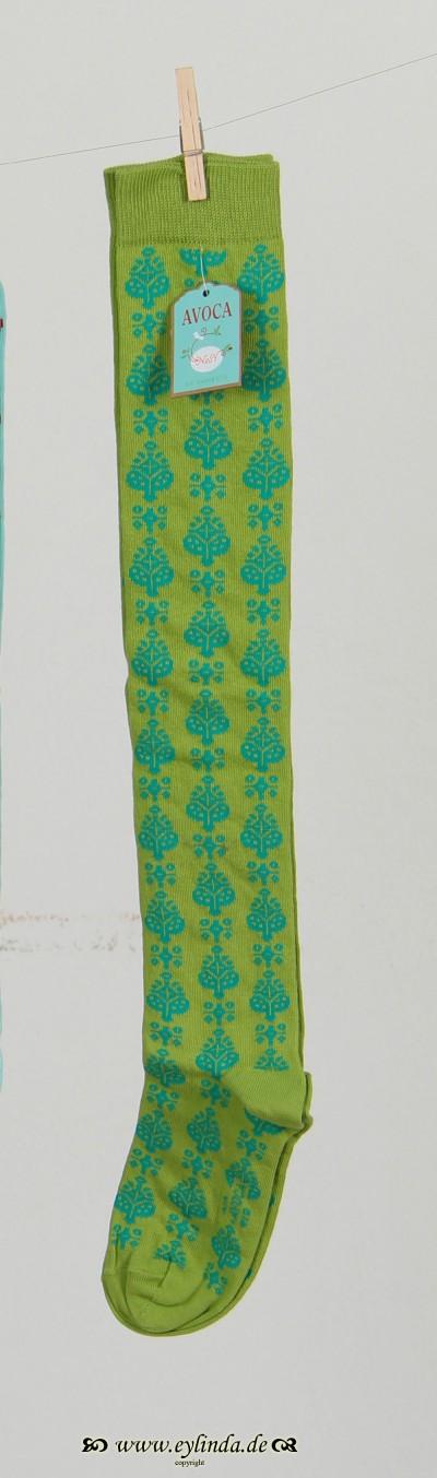 Strümpfe, Georgiso, Lime-turquoise