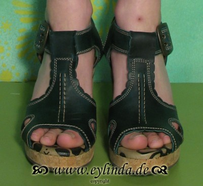 Schuhe, Ulrika, rug/petrol