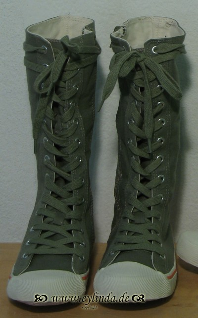 Schuhe, Basic-Canvas Boot-01, jeep