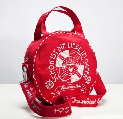 Tasche, Traumboot Tasche, red canvas