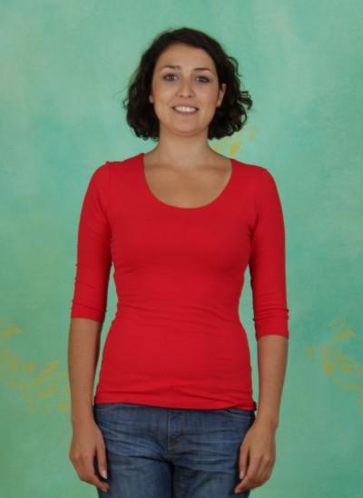 Shirt, Zaza, rouge
