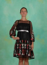 Kleid, Robe De Coralie , night-floral-tulle