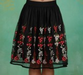 Rock, Tirilie Tuilerie Skirt, night-floral-tulle