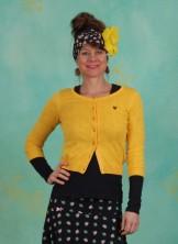 Cardigan, Logo Wonderwaist Cardy, yellow-hope-heart