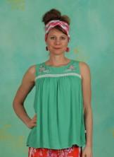 Top, Sunshine Picknick Top, smaragd-crepe