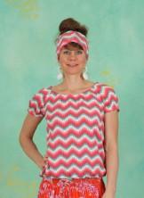 Shirt, Sommerhaus Veranda Shirt, hippie-zig-zag