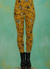 Leggins, Walking On Clouds Legs, golden-fauna