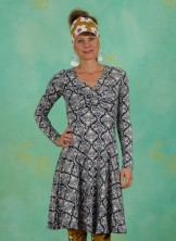 Kleid, Cold Days Hot Knot Robe, silky-snowflower