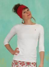 Shirt, Logo V-Shirt ¾ Welle, just-me-in-white