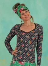 Shirt, Criss Cross Heart Longsie, grid-of-flowers