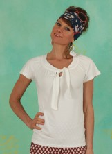 Shirt, Carmelita, clear-white
