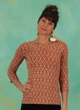 Shirt, Gracious Twist, rusty-heartheat